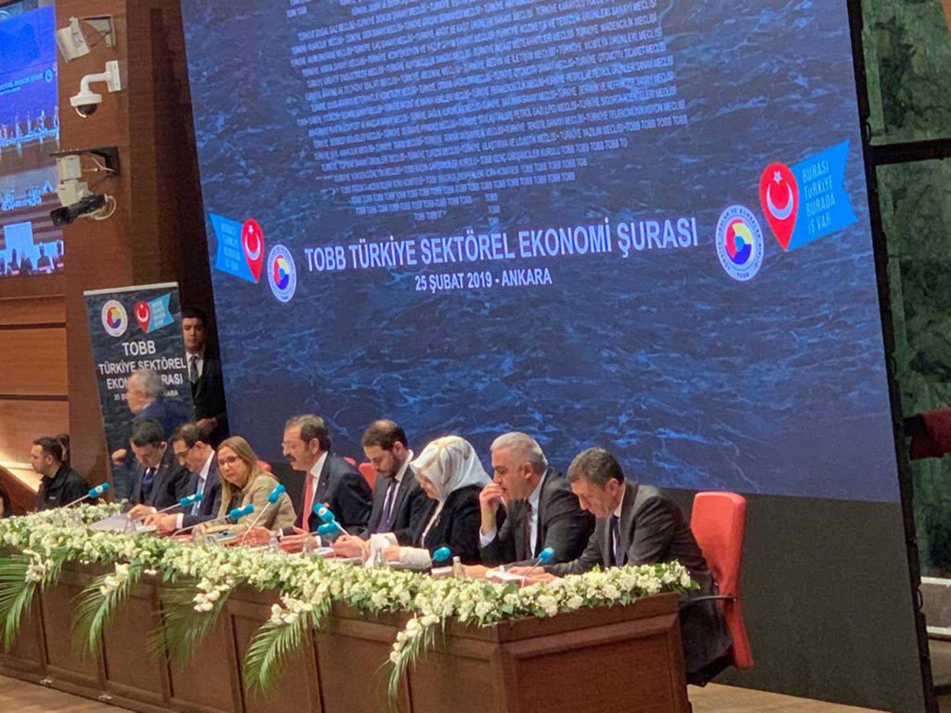 Türkiye Sektörel Ekonomi Şurası Gerçekleştirildi