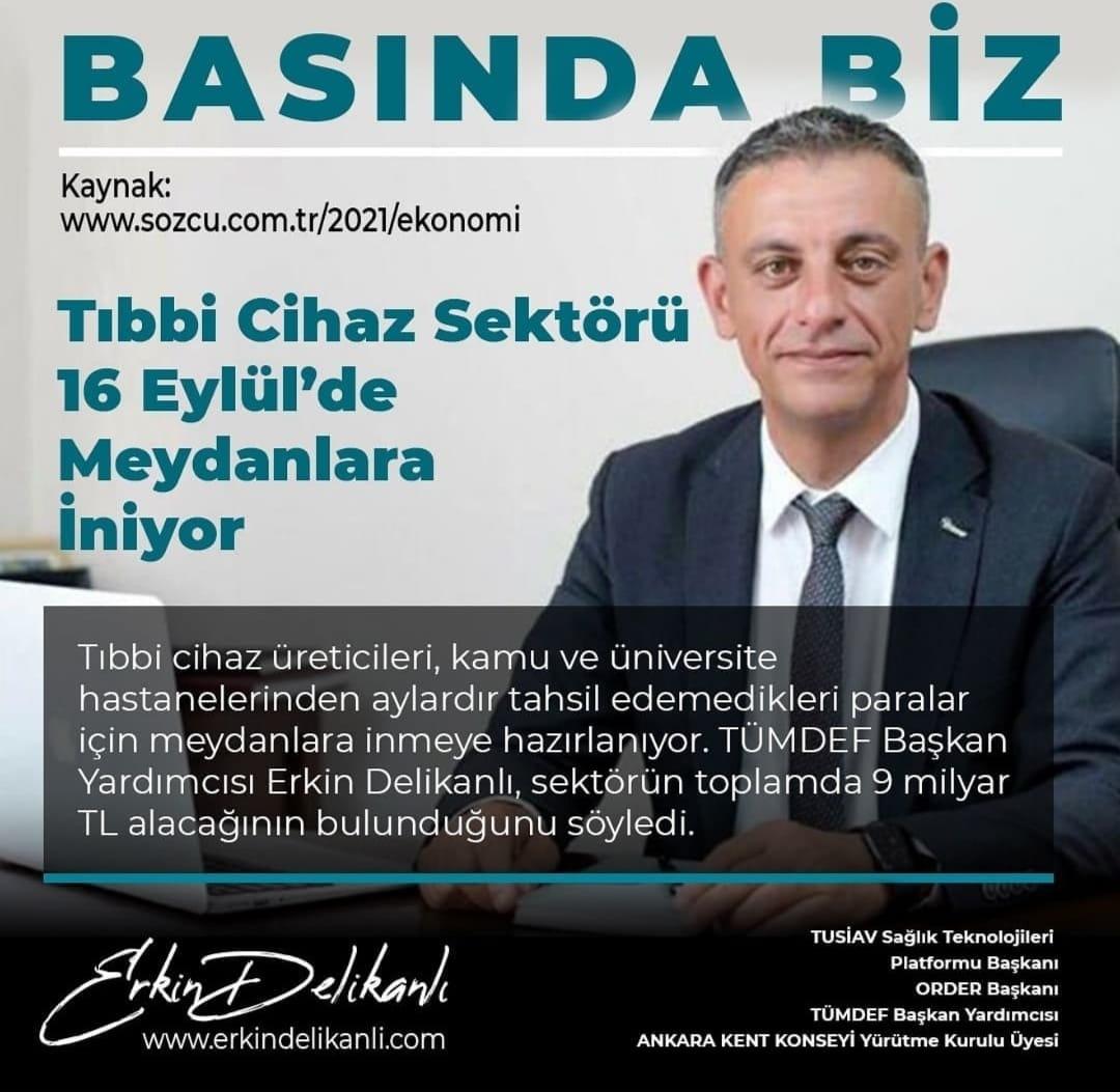TIBBİ CİHAZ SEKTÖRÜ 16 EYLÜL\'DE MEYDANLARA İNİYOR